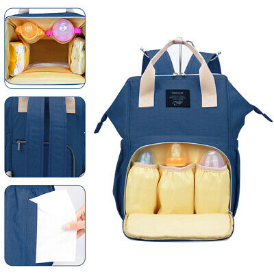 Luxury Multifunctional Mummy Bag Baby Diaper Nappy Changing Backpack Waterproof