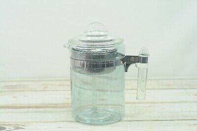 Vintage Old Pyrex Glass 9 Cup # 7826-B Percolator Coffee Pot Complete VGC