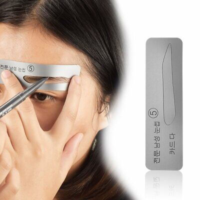 5Pcs Eyebrow Template Stencils Brow Grooming Card Trimming Shaping Beauty Tool@