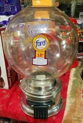dime ( 10 cent ) ford gumball machine 1965's large-capacity hard to find cond.