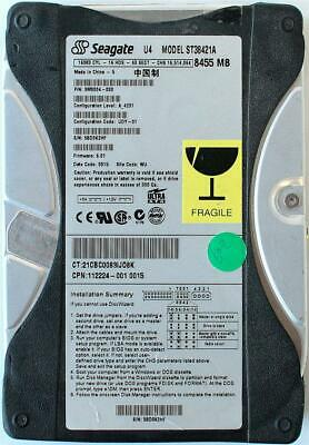 "Seagate ST38421A 8.4GB HDD Ide Ata 3.5"" Series P//N 9M9004 D8605-60101 Tested OK"
