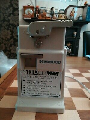 Vintage 1980s Kenwood A185 Electric Three Way Can Bottle + Bag Opener TESTED