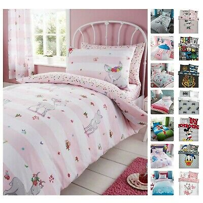 Disney Bedding Set Kids Duvet Cover Pillow Case Single Double Reversible Quilt