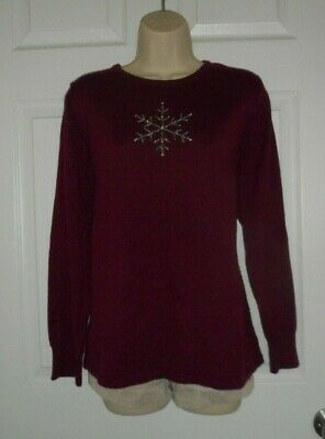 Two Hearts Maternity Red Pullover Sweater Size Large Regular
