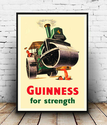 ,Wall art Old Bass Guinness Beer advertising poster Reproduction. Dogs head