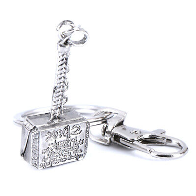 Marvel The Avengers Thor Thor's Hammer Metal Keyring Keychain Silver Color ETS