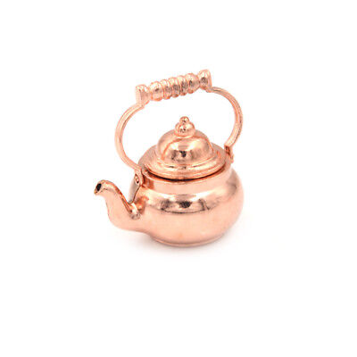 1PCS 1:12 Dollhouse Miniature Copper Tea Kettle Tea Pot Classic Toys DOFA