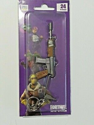 "Epic Games Fortnite Licensed Metal Keychain ""Assault Rifle (Burst)"" Zuru"