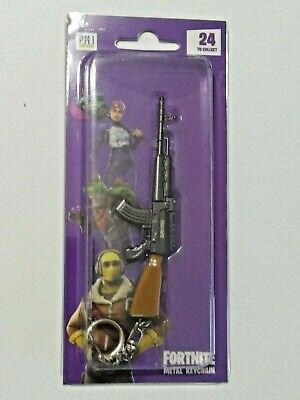 "Epic Games Fortnite Licensed Metal Keychain ""Heavy Assault Rifle"" Zuru"