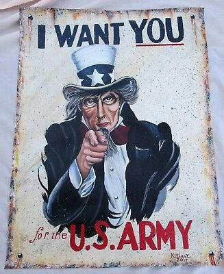 "Original Prison Art Kiliart ""Uncle Sam"" WWI Poster"