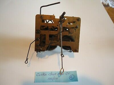 Vintage Cuckoo Clock Movement for parts or repair E