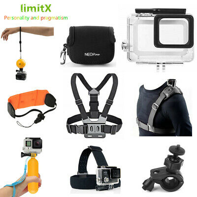 Accessories Waterproof case Floating Ball Hand Grip Head Chest strap for GOPRO