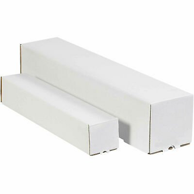 "2""x2""x25"" White Square Mailing Tubes, Lot of 50"
