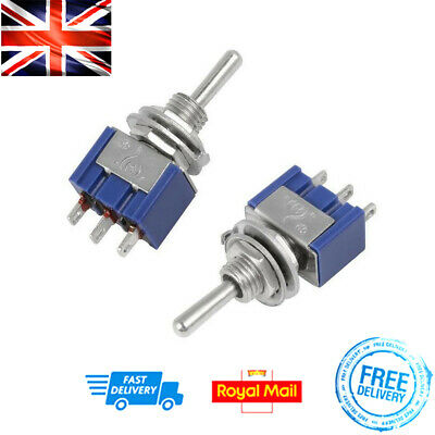 x2 Toggle Switch ON/ON 2 Position 3 Pin MTS-102 SPDT 3A 2-Way DIY PCB Electrical