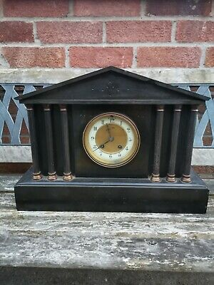Vintsge Marble Mantle Clock.
