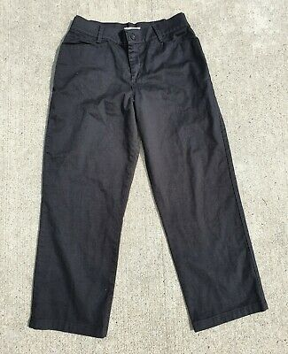 Lee Relaxed Fit Black Khakis Chinos Dress Pants Womens 14P 14 P Petite
