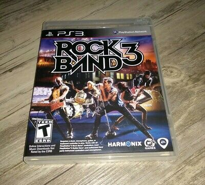 Rock Band 3 (Sony PlayStation 3, 2010) PS3 - Game Only - Complete