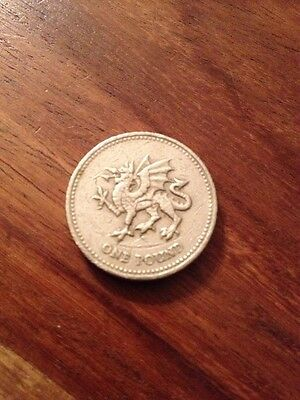 2000 Welsh Dragon £1 One Pound Coin