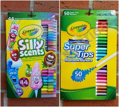 Crayola Silly Scents and Super Tips Multicoloured Felt Tip Marker Pen & Pencils