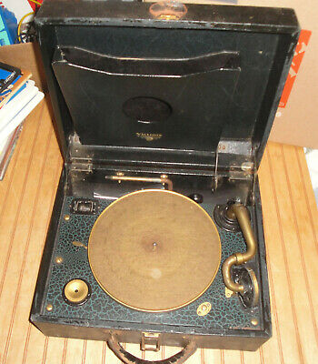 Vintage RCA Victrola Portable Phonograph Turntable Record Player as is works