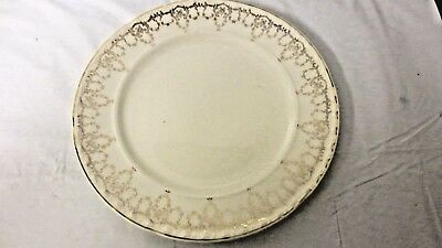"La Grande by Crooksville USA signed 9 1/2"" Plate - Gold Scroll Design"