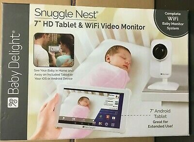 """Baby Delight Snuggle Nest 7.0"""" HD Tablet & WiFi Video Baby Monitor OPEN BOX"""
