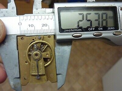 Old French Clock ?  Platform Escapement--Spares Or Repair (W) Free Post