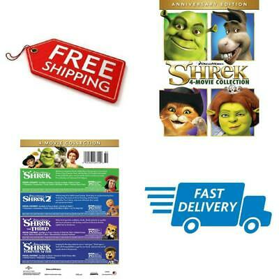 4 Movie Collection DVD Shrek Anniversary Edition English Animated Widescreen NEW