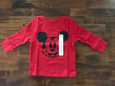 NWT Boys Disney Jumping Beans Mickey Mouse Shirt Top Size 12 Months