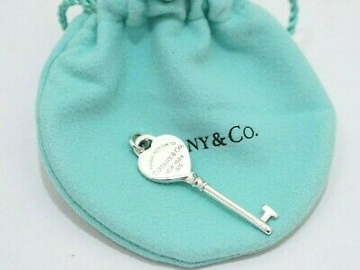 Tiffany & Co. Sterling Silver Return To Heart Key Pendant Charm