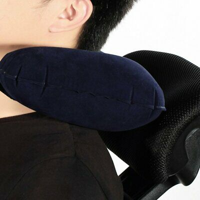 Inflatable Travel Pillow Air Cushion Neck Rest U-Shaped Compact Plane Flight GN
