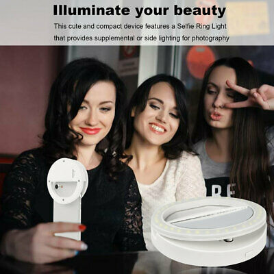 Ingenious Portable Flash 36 Led Camera Enhancing Photography Selfie Ring Light@