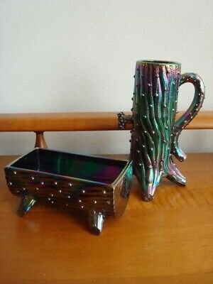 Northwood Carnival  Iridescent Tree Trunk Vase & Trough