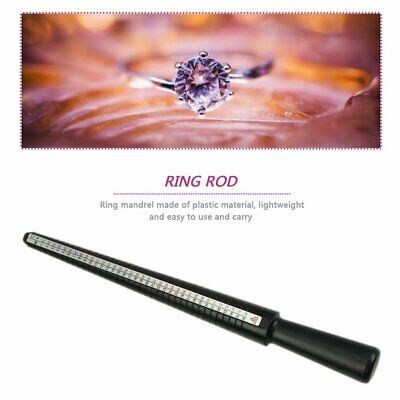 Ring Sizer Mandrel Stick Finger Gauge Ring Measuring Sizes Jewelry Tool GN