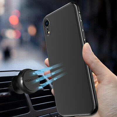 Ultra Slim Matte Magnetic Vehicle Back Phone Case Cover For iPhone XR Xs Max 7 8