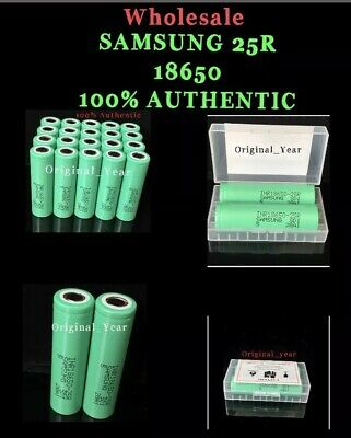 Samsung 25R 18650  2500mAh 35A High Drain Rechargeable Batteries Wholesale