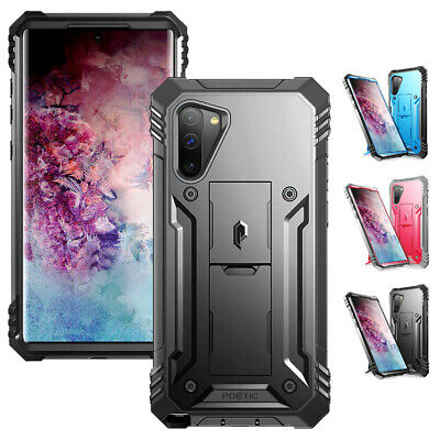 Galaxy Note 10 / Note 10 Plus Case,Poetic 360 Degree Cover [Built-In Kick-stand]