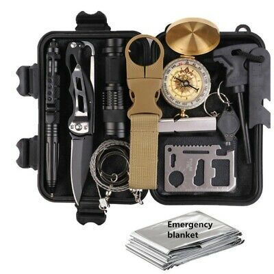 13 Pcs Outdoor Survival Kit First Aid Set Tactical SOS EDC Emergency Kit Tools