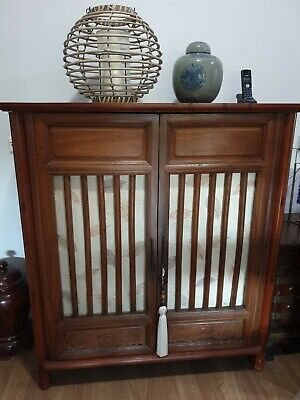 Chinese Timber Cabinet with 3 shelves inside