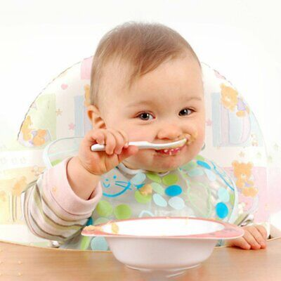 2Pcs Baby Pacifier Feeding Spoon Curved Spoon Children Tableware Baby Supplies@
