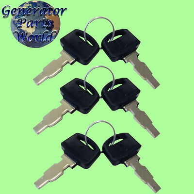 2 Harbor Freight Ignition Switch Keys for Predator Generator On Off 3 Way 6 Wire