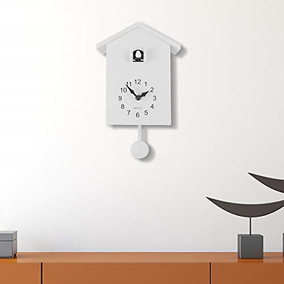 WALPLUS White Cuckoo Clock White Window Wall Clock Wall Art Home Living Room