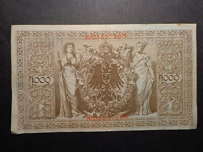 German.21/04/1910.Berlin One Thousand Reichs Mark Bank Note -:- Nice Circulated