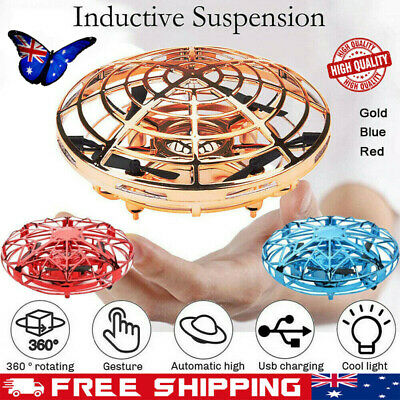 UFO Flying Ball Toy Mini Drone Quad Hand-Controlled Induction Levitation Gift AU