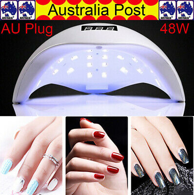 OZ SUN5 48W LED UV Nail Lamp Light Gel Polish Dryer Manicure Art Curing AU Plug