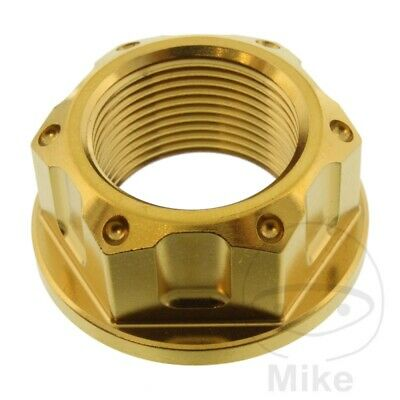 BMW S 1000 R RR Mutter Achse Pro Bolt M24X1.50 mm Edelstahl V4A gold HP4