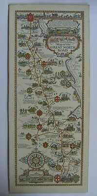 Pratts Map of the Great North Road & Plan of the Bath Road, A.E. Taylor,1930