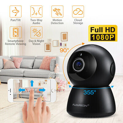 FLOUREON 1080P IP Kamera Pan-Tilt Kamera Babyfone IR Nachtsicht Two-Way Audio EU