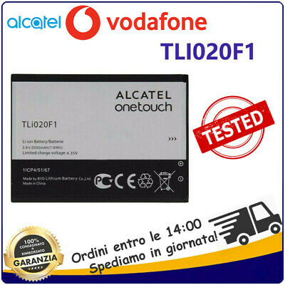 BATTERIA PER ALCATEL C7 TLI020F1 / F2 2000mAh VODAFONE SMART TURBO 7
