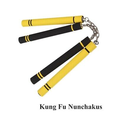 Nunchakus Training For Martial Art Karate Safety Foam Nunchucks Stick Kid Toy CA